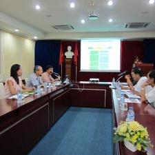 Làm việc với Trung tâm Sở hữu trí tuệ và CGCN, Đại học Quốc gia TPHCM